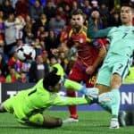 """""""โรนัลโด้"""" ซูเปอร์ซับยิงเปิดหัวให้โปรตุเกสบุกชนะอันดอร์ร่า 2-0"""