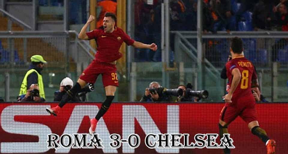 อาแอส โรม่า 3-0 เชลซี